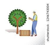 vector flat icon illustration... | Shutterstock .eps vector #1246743004