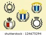 vintage labels set.   Shutterstock .eps vector #124675294