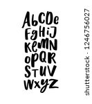 decorative hand drawn lettering ... | Shutterstock .eps vector #1246756027