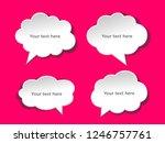 speech bubbles banner set.... | Shutterstock .eps vector #1246757761
