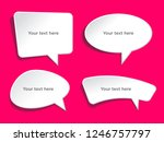 speech bubbles banner set.... | Shutterstock .eps vector #1246757797