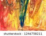 abstract acrylic creative... | Shutterstock . vector #1246758211
