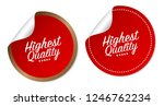 highest quality stickers | Shutterstock .eps vector #1246762234