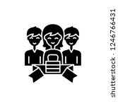 membership black icon  vector... | Shutterstock .eps vector #1246766431