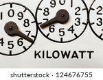 kilowatt hour electric meter... | Shutterstock . vector #124676755