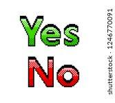pixel art yes no text detailed... | Shutterstock .eps vector #1246770091