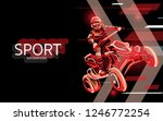 modern poster for sports. atv... | Shutterstock .eps vector #1246772254