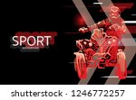modern poster for sports. atv... | Shutterstock .eps vector #1246772257