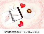 coffee and love - stock photo