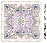 decorative colorful ornament on ... | Shutterstock .eps vector #1246782061