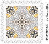 decorative colorful ornament on ... | Shutterstock .eps vector #1246782067
