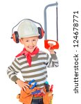 Little Boy In A Helmet Plays I...