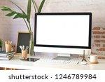 mockup modern blank screen... | Shutterstock . vector #1246789984