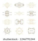 set of line gold monograms.... | Shutterstock .eps vector #1246791244