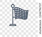 finish flag icon. trendy finish ... | Shutterstock .eps vector #1246796737