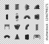 steel spring. spiral coil... | Shutterstock .eps vector #1246798171