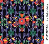hungarian stylized seamless... | Shutterstock .eps vector #1246802617
