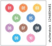 technology colorful number info ... | Shutterstock .eps vector #1246804681