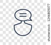 social media specialist icon.... | Shutterstock .eps vector #1246805077