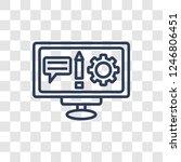 copywriting icon. trendy linear ... | Shutterstock .eps vector #1246806451