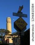 coit tower  san francisco... | Shutterstock . vector #1246810384