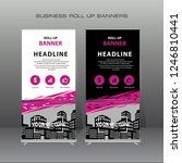 creative modern roll up banner... | Shutterstock .eps vector #1246810441
