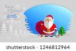 paper greetings of santa claus  ...   Shutterstock .eps vector #1246812964