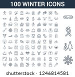 100 winter universal linear... | Shutterstock .eps vector #1246814581