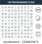 100 programming universal... | Shutterstock .eps vector #1246814671