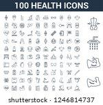 100 health universal linear... | Shutterstock .eps vector #1246814737