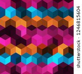 hexagon grid seamless vector... | Shutterstock .eps vector #1246815604