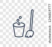 bin icon. trendy linear bin...   Shutterstock .eps vector #1246819777