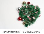 christmas decoration with white ... | Shutterstock . vector #1246822447