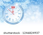 christmas and new year are...   Shutterstock .eps vector #1246824937