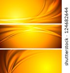abstract orange sunny banners.... | Shutterstock .eps vector #124682644