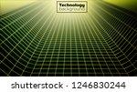 wireframe landscape.technology... | Shutterstock .eps vector #1246830244