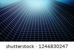 wireframe landscape.technology... | Shutterstock .eps vector #1246830247