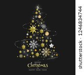 christmas background with... | Shutterstock .eps vector #1246834744