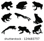 Silhouettes Frog Vector
