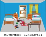 messy kids room vector a messy... | Shutterstock .eps vector #1246839631