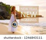 new year new beginning... | Shutterstock . vector #1246843111