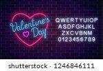 happy valentines day neon...   Shutterstock .eps vector #1246846111