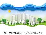 paper art   cut digital craft... | Shutterstock .eps vector #1246846264