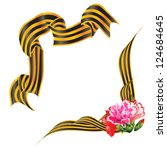black and orange ribbon victory | Shutterstock .eps vector #124684645