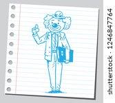 school teacher clown   Shutterstock .eps vector #1246847764
