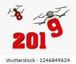 happy new year 2019 with red... | Shutterstock . vector #1246849624