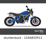 sport bike  vector blue color ... | Shutterstock .eps vector #1246853911