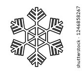 snowflake line icon. beautiful... | Shutterstock .eps vector #1246858267