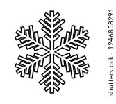 snowflake line icon. beautiful... | Shutterstock .eps vector #1246858291