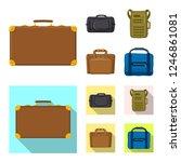 vector illustration of suitcase ...   Shutterstock .eps vector #1246861081